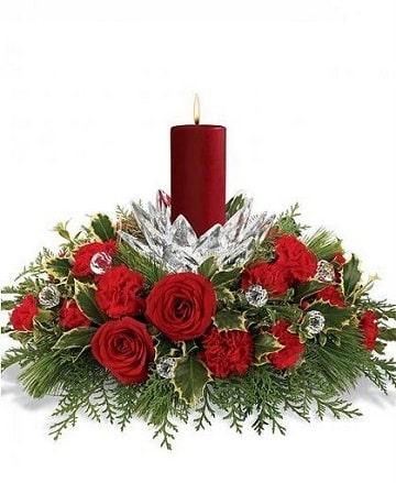 Ideas y diseos de arreglos florales para navidad Centros de Mesa