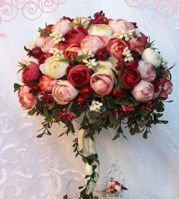 arreglos florales redondos rosas