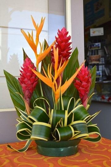 arreglos florales tropicales pequeño