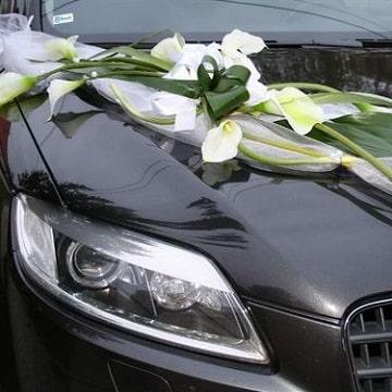 arreglos para carro de novia diseños