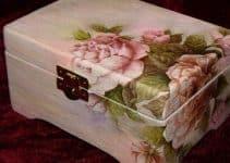 Estilos y tendencias de cajas decoradas con servilletas