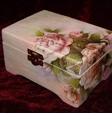 cajas decoradas con servilletas ideas