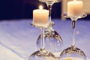 Originales y artisticos centros de mesa con candelabros