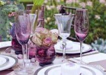 Ideas para crear hermosos centros de mesa morados