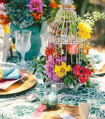 centros de mesa naturales con flores