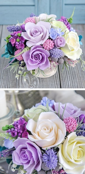 centros de mesa pequeños con flores