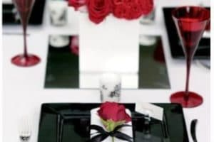 Ideas para crear hermosos centros de mesa rojo y blanco