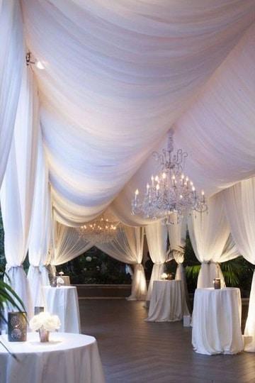 decoracion de salones con telas para boda