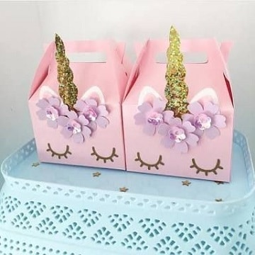 fiestas tematicas de unicornios caja de dulces