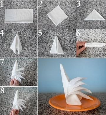 figuras con servilletas de papel paso a paso