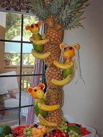 frutas decoradas para fiestas creativos