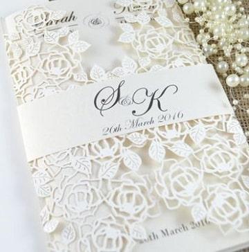 modelos de invitaciones para boda con flores