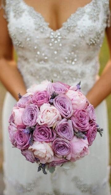 ramos de rosas para novias tonos pastel