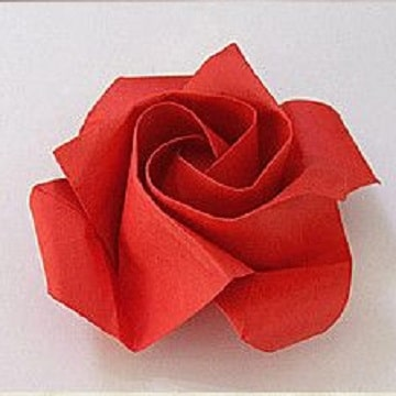 rosas con servilletas de papel ideas