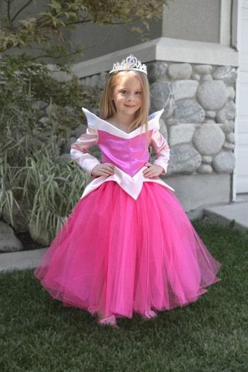 trajes de princesas para niñas aurora
