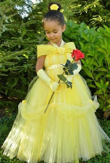 trajes de princesas para niñas bella