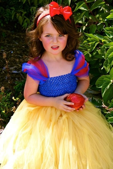 trajes de princesas para niñas blanca nieves