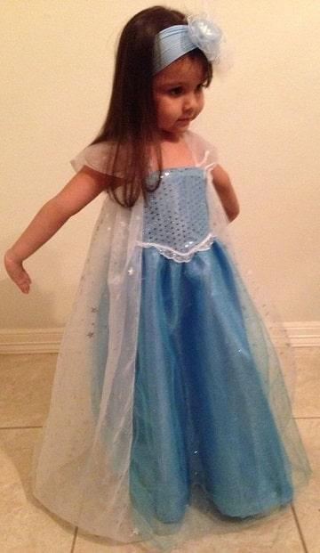 trajes de princesas para niñas elsa