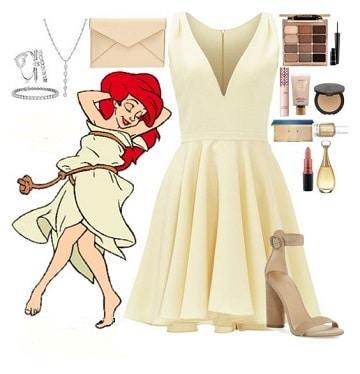 vestidos de la sirenita de disney blanco