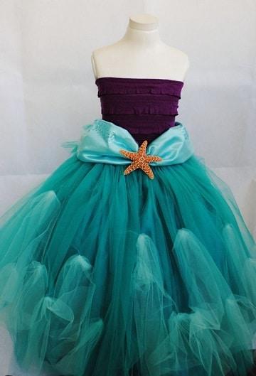 vestidos de la sirenita de disney para niña