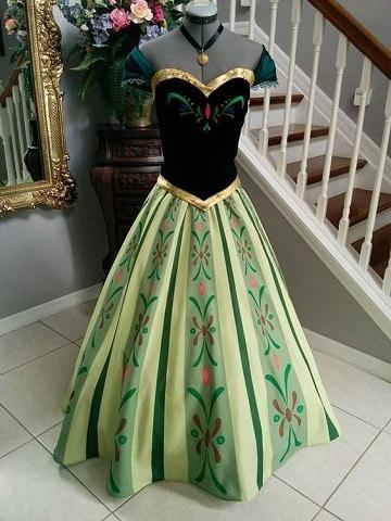 vestidos de princesas para adultos ana