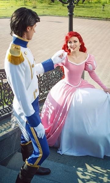 vestidos de princesas para adultos ariel
