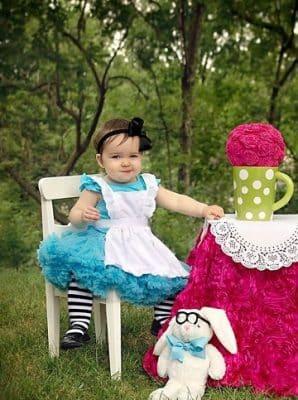 vestidos de princesas para bebes alicia