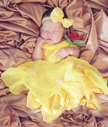 vestidos de princesas para bebes bella