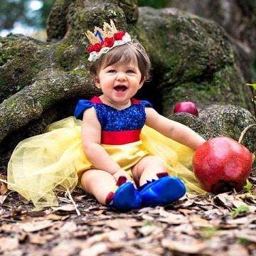 vestidos de princesas para bebes blanca nieves