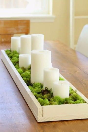 adornos para mesa de comedor rectangular con velas