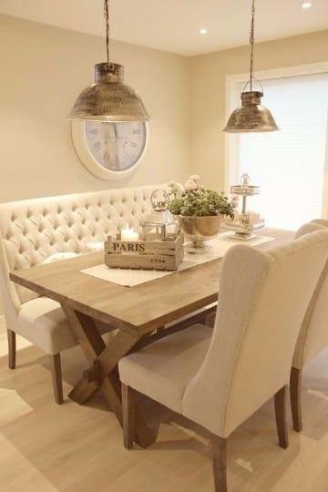 Ideas y adornos para mesa de comedor rectangular for Sala comedor comedor rectangular