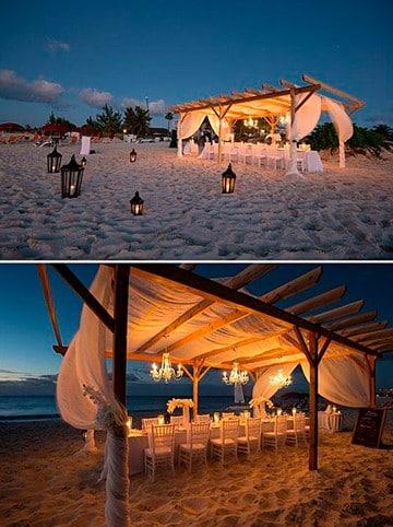 boda en la playa de noche original