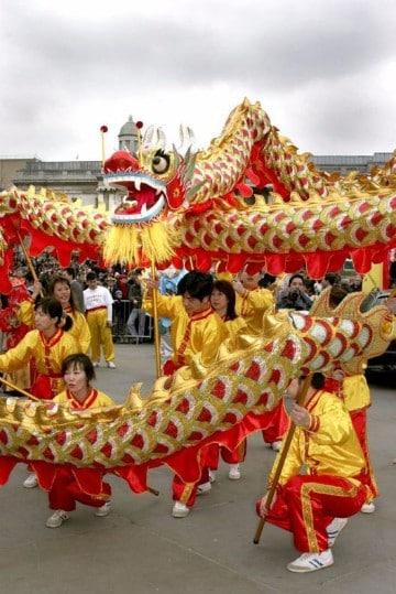 celebracion año nuevo chino en equipo