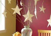 Bonitos centros de mesa con estrellas para diversas fiestas