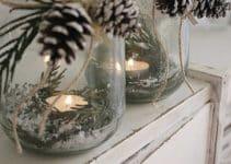 Hermosos y sencillos centros navideños con piñas