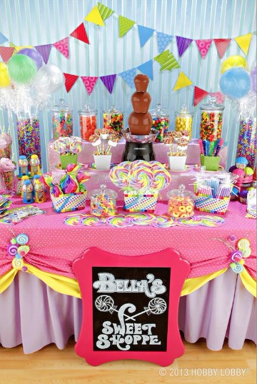 como arreglar una mesa de dulces creativa