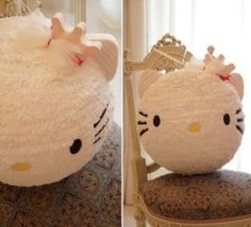 como decorar una piñata de globo hello kitty