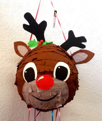 como decorar una piñata de globo para navidad