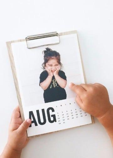 como hacer un calendario con fotos adorable