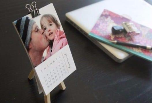 como hacer un calendario con fotos delicado
