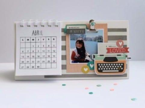 como hacer un calendario con fotos original