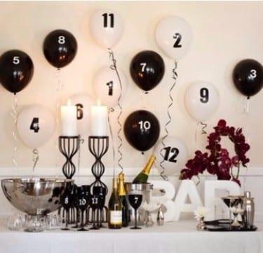 creativa decoracion para año nuevo 2017