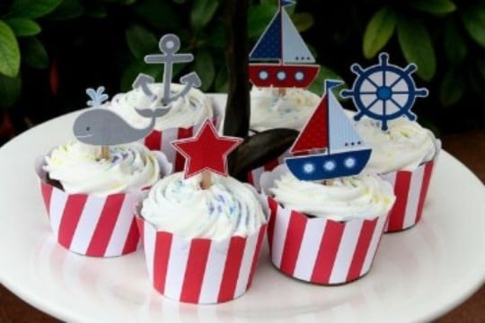 cumpleaños de marinero para niños creativos