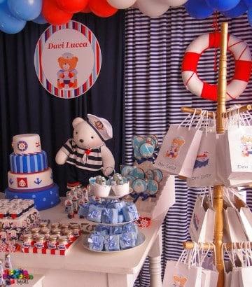 cumpleaños de marinero para niños pequeños