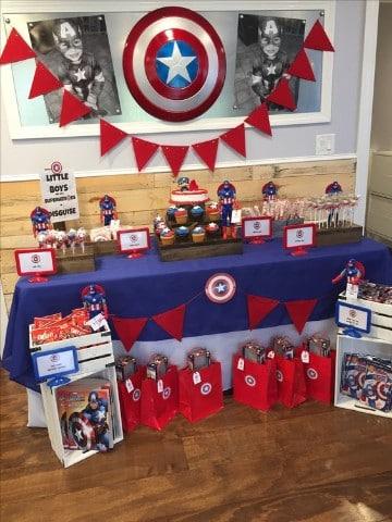 cumpleaños tematica capitan america sencillos