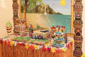 Una original decoracion de cumpleaños hawaiano