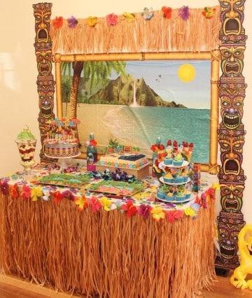 decoracion de cumpleaños hawaiano original