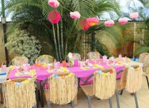 decoracion de cumpleaños hawaiano tematico