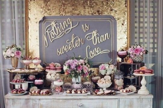 decoracion de mesa de dulces para boda original