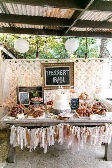 Ideas para decoracion de mesa de dulces para boda for Decoracion rustica para bodas